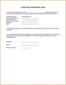 Credit Card Authorization Letter Template - Authorisation Letter format for Vehicle Best Authorization Letter