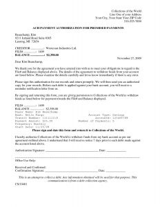 Credit Card Authorization Letter Template - Ach Revocation Letter Template Collection