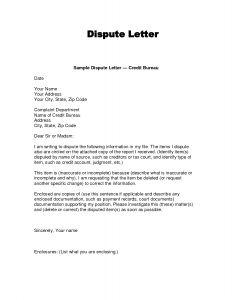 Credit Dispute Letter Template Pdf - Credit Dispute Letter Template Pdf Collection