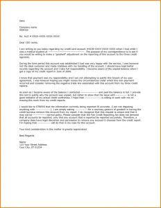 Credit Inquiry Removal Letter Template - Goodwill Deletion Request Letter