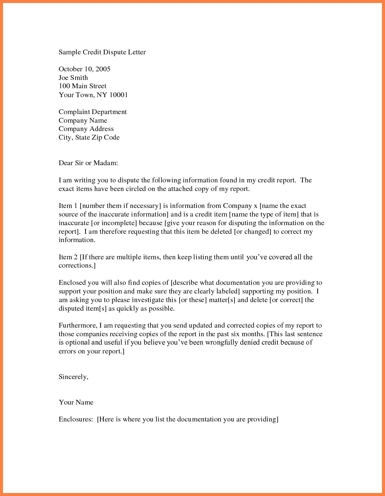 credit report dispute letter template Collection-Credit Report Dispute Letter Template Reference Letter Format For Change Department Fresh Sample Credit Report 2-f