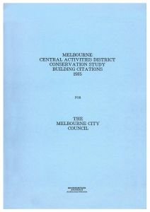 David Clarence Executor Letter Template - Melbourne Central Activities District Conservation Study 1985