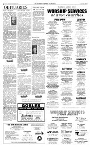 David Clarence Executor Letter Template - the Courier Leader June 29 2018 Pages 1 8 Text Version