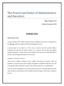 David Clarence Executor Letter Template - Powers Of Executors Will and Testament