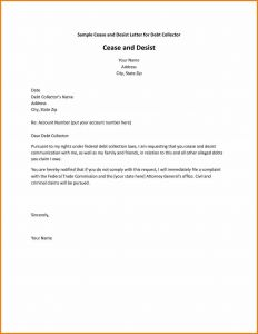 Debt Collection Letter Template - Cease and Desist Collection Letter Template Collection