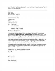 Debt Dispute Letter Template - Debt Dispute Letter Template Collection