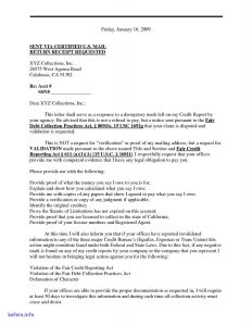 Debt Dispute Letter Template - Debt Dispute Letter Template Valid Debt Validation Letter Template