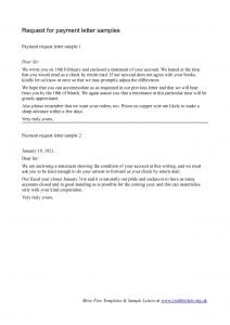 Demand Letter for Payment Template - Request for Payment Letter Samples by Docbase