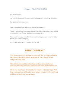 Demotion Letter Template - View Employee Reinstatement Notice Letter