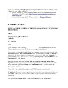 Demotion Letter with Decrease In Salary Template - Voluntary Demotion Letter Sample Uk