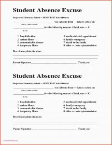 Dental Excuse Letter Template - Excuse Later for Job 30 New School Excuse Letter Professional Free