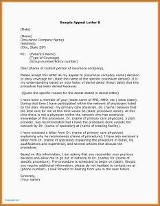 Dental Insurance Appeal Letter Template - Dental Claim Appeal Letter Template