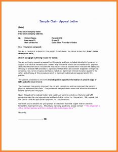 Dental Insurance Appeal Letter Template - Insurance Prospecting Letters Template Unique Refrence Appeal Letter