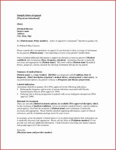 Disability Appeal Letter Template - 50 Inspirational How to Write An Appeal Letter for Disability