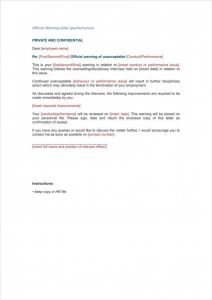 Disciplinary Letter Template - Legal Letter format for Absconding Employee New First Ficial Warning
