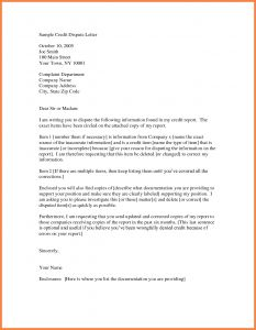 Dispute Letter to Credit Bureau Template - Credit Report Dispute Letter Template Reference Letter format for