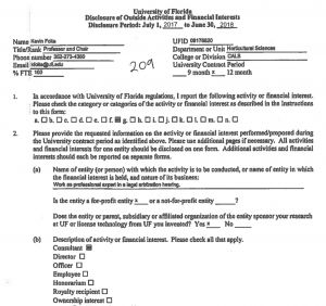 Dividing Fence Letter Template - Statement On Kevin Folta and Conflicts Of Interest Biology