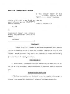 Dog Noise Complaint Letter Template - Medical Negligence Plaint Letter Template Gallery