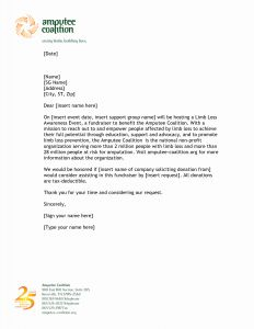 Donation Letter Template for Non Profit - Sponsorship Letter Template for Non Profit Collection
