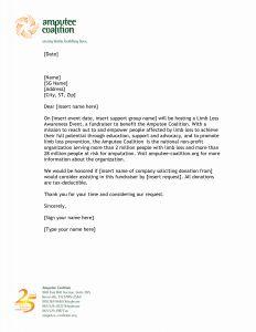 Donation Letter Template Non Profit - Sponsorship Letter Template for Non Profit Collection