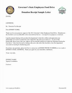 Donation Receipt Letter Template - Donation Acknowledgement Letter Template Best Resume Thank You