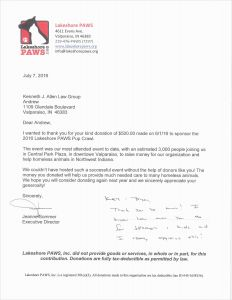 Donations Letter Template - Tax Donation Letter Template Gallery