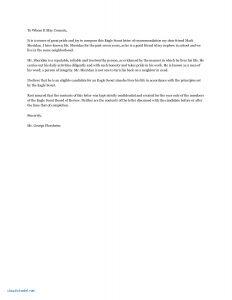 Eagle Recommendation Letter Template - Eagle Scout Re Mendation Letter Template Awesome Re Mendation