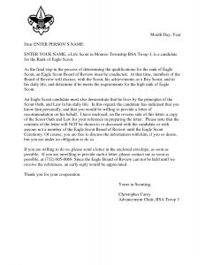 Eagle Recommendation Letter Template - Eagle Scout Reference Request Sample Letter Doc 7 by Hfr990q