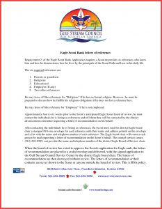 Eagle Recommendation Letter Template - Eagle Scout Reference Letter Example