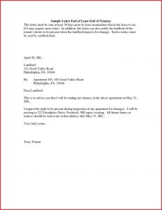 Early Lease Termination Letter to Landlord Template - Rental Termination Letter to Tenant Fresh Sample Lease Termination