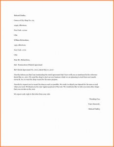 Early Lease Termination Letter to Landlord Template - Lease Termination Letter to Tenant Template top Best Letter format