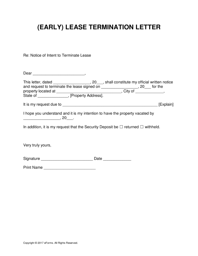 early lease termination letter to landlord template Collection-Letter Intent Early Lease Termination Template 791x1024 To 8-q
