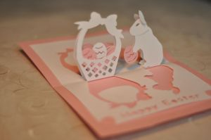 Easter Bunny Letter Template - Easter Bunny and Basket Pop Up Card Template