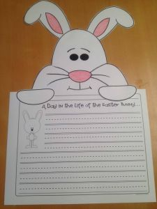 Easter Bunny Letter Template - Bunny Writing Education and Crafts for Kids Pinterest
