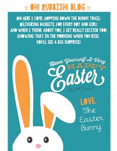 Easter Bunny Letter Template - Sample Letter From the Easter Bunny