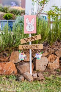 Easter Bunny Letter Template - Diy Easter Bunny Crossing Sign — the Whimsical Wife