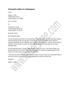 Elf Goodbye Letter Template - Farewell Letter to Colleagues Sample Farewell Letter