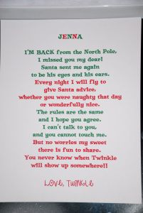 Elf On the Shelf Goodbye Letter Template - Day 1 Elf On the Shelf I M Back Letter Elfontheshelf Nat Said