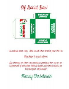 Elf On the Shelf Goodbye Letter Template - Elf On the Shelf Ideas Shrunkin Donuts Elf Sized Props Small