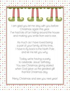 Elf On the Shelf Goodbye Letter Template - Goodbye Letter From the Elf On A Shelf Christmas