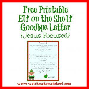 Elf On the Shelf Goodbye Letter Template - A Free Printable Elf On the Shelf Goodbye Letter that is Jesus