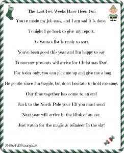 Elf On the Shelf Goodbye Letter Template - Printable Elf the Shelf Goodbye Letter Christmas