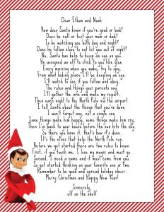 Elf On the Shelf Letter Template - Santa Letter Template Printable top Rated Christmas Wish List