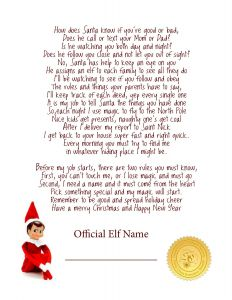 Elf On the Shelf Letter Template - Elf On the Shelf Ideas for Arrival 10 Free Printables