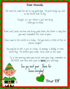 Elf On the Shelf Letter Template - Free Printable Elf On the Shelf Goodbye Letter Jesus Focused