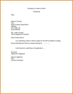 Employee Letter Of Intent Template - Free Letter Intent for A Job Template Samples