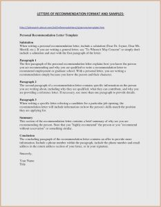 Employee Verification Letter Template - 30 Free General Letter Re Mendation Template Example
