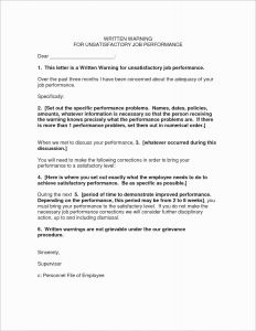 Employee Warning Letter Template - Verbal Warning Letter Template 2018 E Month Notice Template Best I