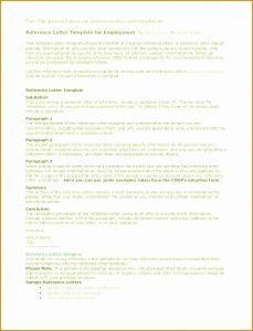 Employer Reference Letter Template - Reference Letter Template From Employer Samples