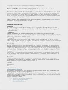 Employment Letter Of Recommendation Template - Cfo Resume Template Inspirational Actor Resumes 0d – Letter Templates